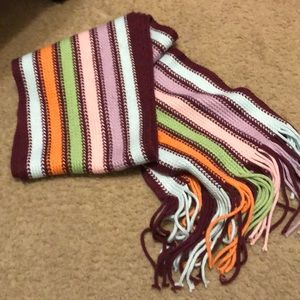 Aeropostale Knit Multi colored Scarf